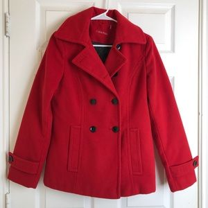 Calvin Klein red wool coat size 4